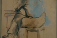 Uomo seduto  - 1966 - 20 x 24