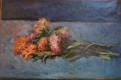 Fiori crisantemi - 1971 - Olio su tela - 50 x 70