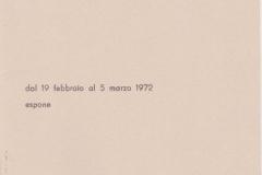 Mostre Personali - 1972