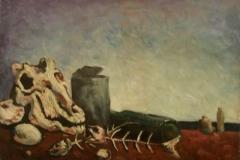 Natura morta con bucrano - 1968 - Olio su tela - 50 x 70