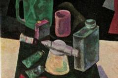 Natura morta con pennelli - 1961 - Olio su tela
