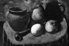 Natura morta con pipa - 1973 - Olio su tela