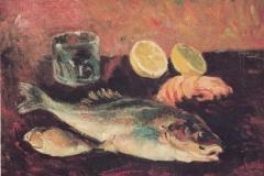 Pesci - 1977 - Olio su tela - 40 x 50