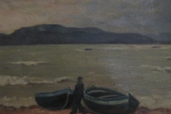Barche in secca - 1951 -  Olio su tela 50 x 70