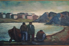 In riva al mare - 1965 - Olio su tela - 120 x 80