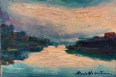 Lungo Tevere - 1972 - Olio  su  tela - 12 x 18