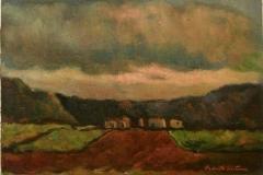Paesaggio al tramonto - 1973 - Olio su tela - 50 x 70