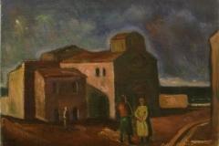 Paesaggio con chiesa  - 1966 - Olio su tela 50 x 70