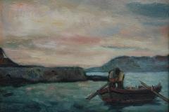Pescatore - 1976 - Olio  su tela - 30 x 40