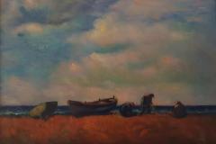 Pescatori - 1969 - Olio su tela -70 x 100