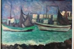 Peschereggi - 1961 - Olio su tela